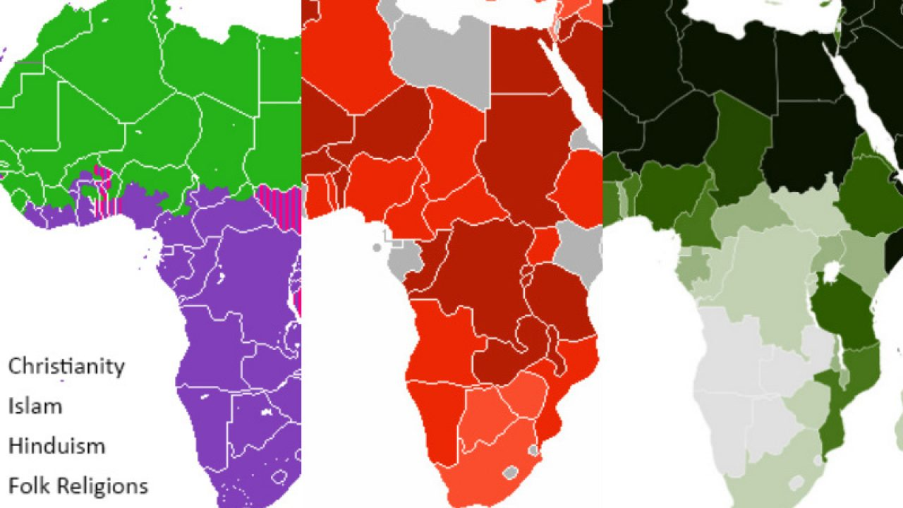 religion map of africa 12 Hopeful Maps Graphs Of Religion In Africa religion map of africa
