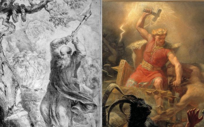 Christmas Origin.Thor St Boniface And The Origin Of The Christmas Tree