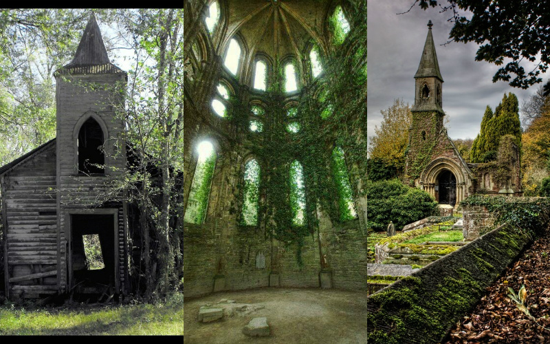21 hauntingly beautiful photos of churches overgrown with