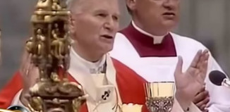 is paul ii s ghost pope francis the about this viral photo churchpop