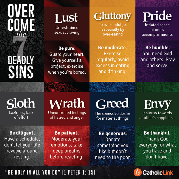 the seven deadly social sins It is for this reason that st thomas numbers lust (objectively speaking) among the mortal sins: the more necessary a thing is, the more it behooves one to observe the order of reason in its regard wherefore the more sinful it becomes if the order of reason be forsaken.