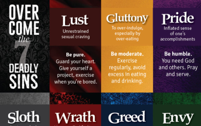 how to overcome the 7 deadly sins in one infographic churchpop