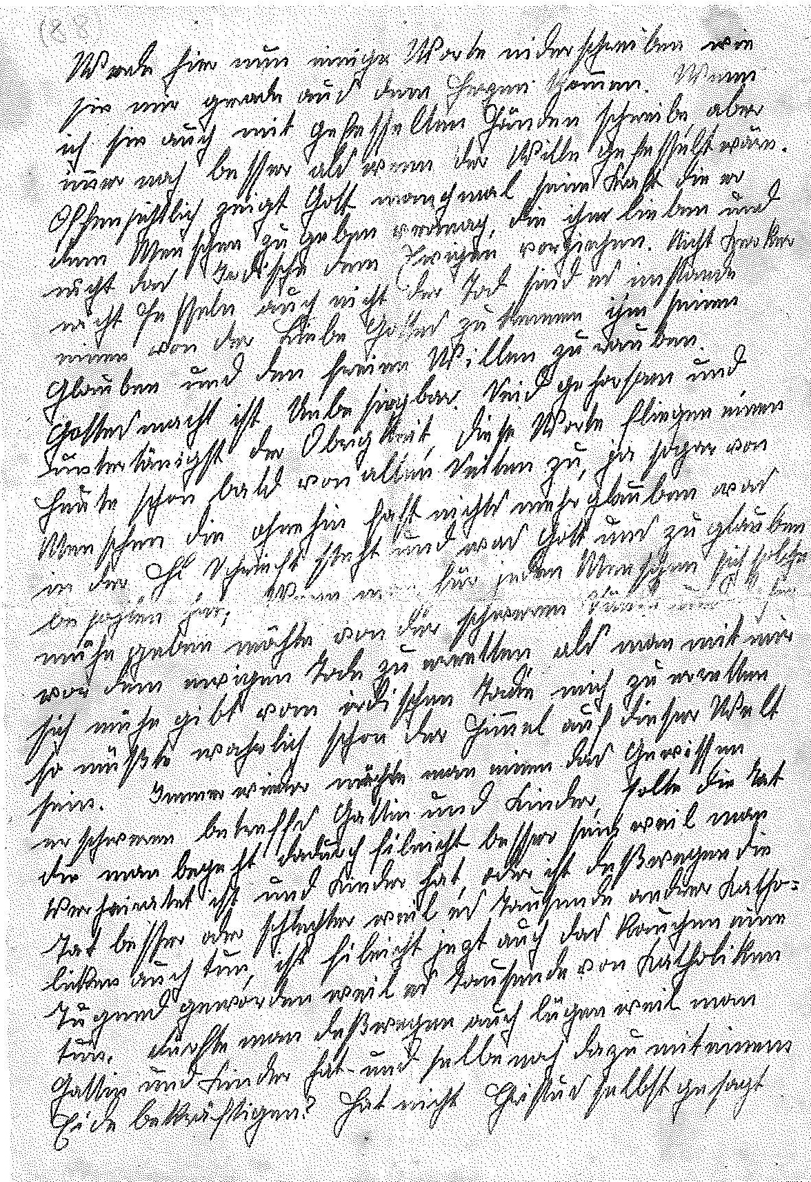 """The first page of Franz's last essay, written while he was in prison. The first sentence reads, """"Now I'll write down a few words as they come to me from my heart. Although I am writing them with my hands in chains, this is still much better than if my will were in chains.""""/Styria Verlag. Used with permission"""