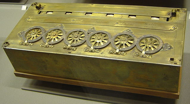 One of his mechanical calculators, or Pascaline. / © 2005 David Monniaux, Wikipedia