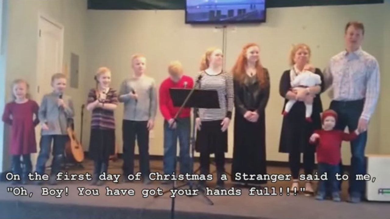 12 Days Of Christmas Parody.Lol This Large Family Parody Of 12 Days Of Christmas Is
