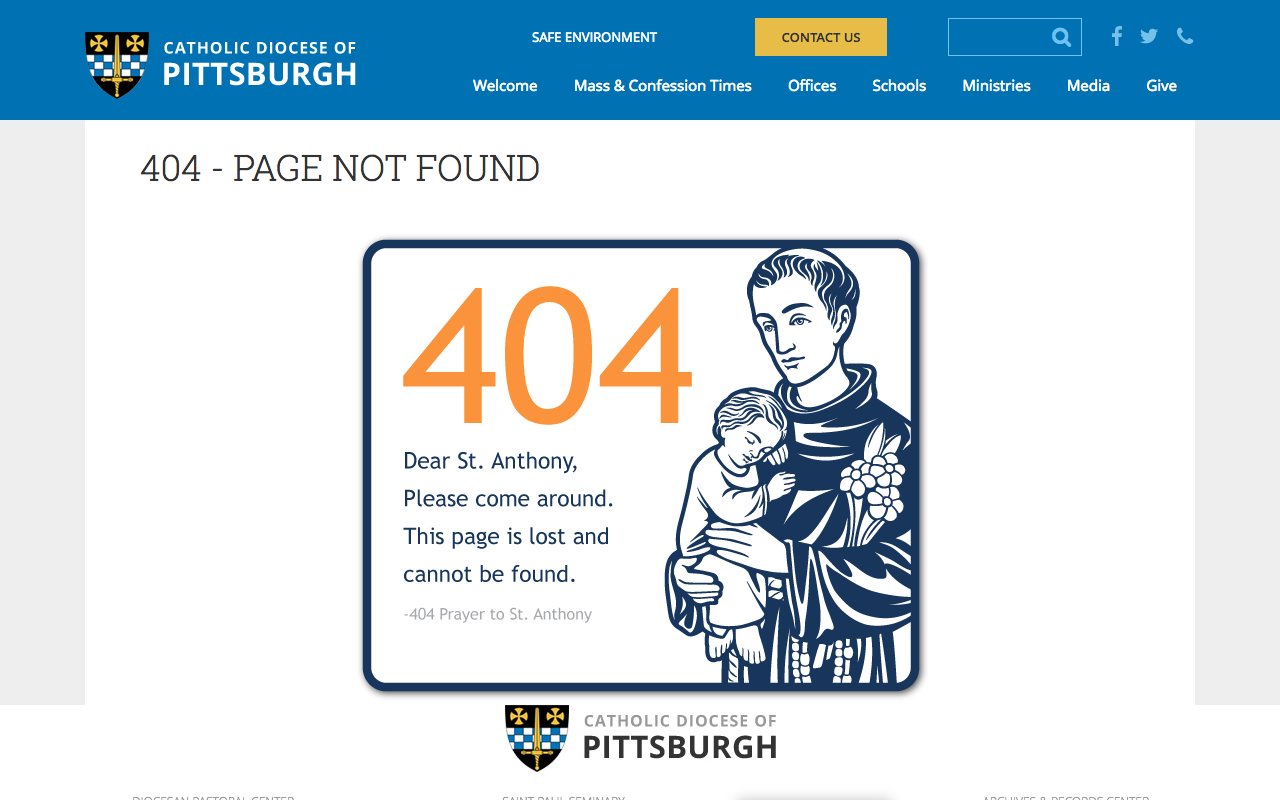 This Diocese's Website Has the Best Catholic 404 Message!   ChurchPOP