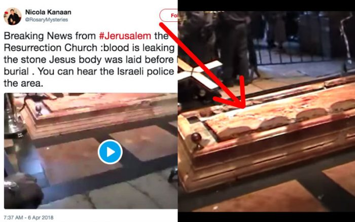 Is Blood Currently Leaking Miraculously in a Jerusalem Church