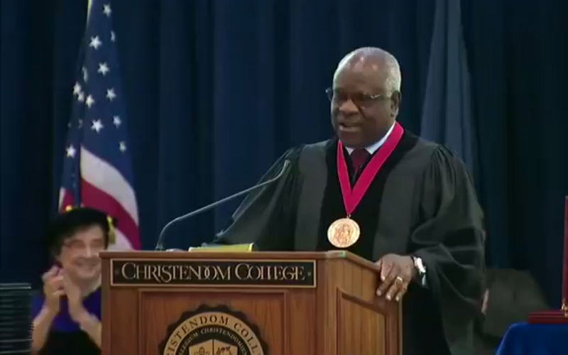 """I Am Decidedly & Unapologetically Catholic,"" Justice Clarence Thomas Declares to Christendom College 