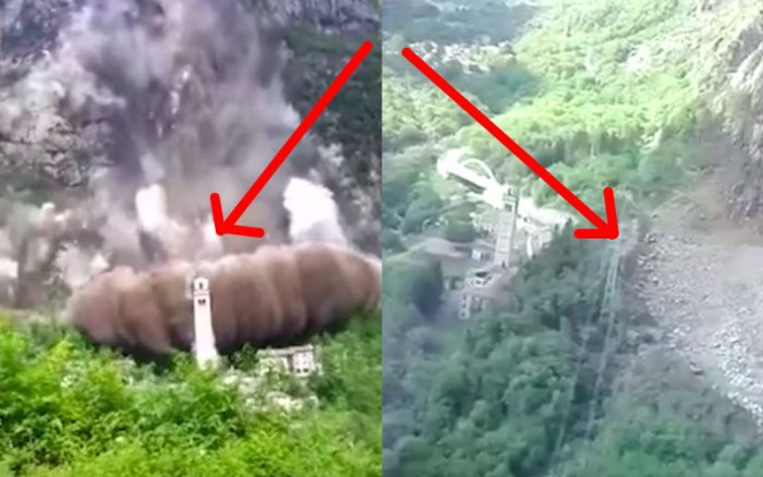 One Path Super >> Enormous Landslide Miraculously Stops RIGHT BEFORE 420-Yr-Old Church in Italy (Video & Photos ...