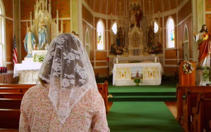 Image result for chapel veil young catholic women in church