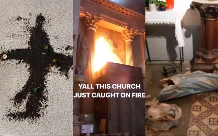 Vandals Desecrate 12 French Catholic Churches: