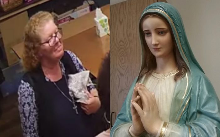 Fake Visionary Painted Tears of Blood on Mary Statue, Sculptor Who Cleaned Statue Reveals