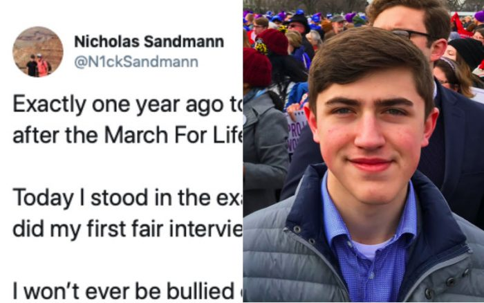 """Covington Catholic Nick Sandmann Attends 2020 March for Life: """"I Won't Ever Be Bullied...""""  """